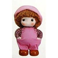 首振り人形オルゴール ピンク 「曲目:星に願いを」