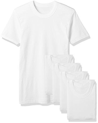 [セシール] メンズ 肌着 インナーシャツ 綿100% 5枚組セット 半袖 丸首 KO-883