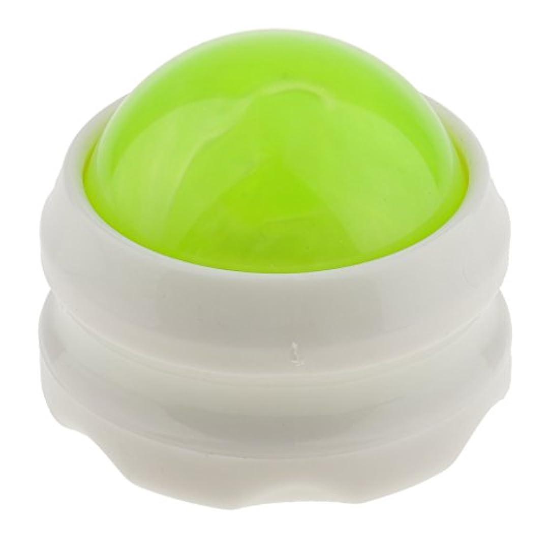 カラス着飾るがっかりしたsharprepublic マッサージ ローラーボール ボディ バック ネック フット セルフマッサージツール 全4色 - グリーンホワイト
