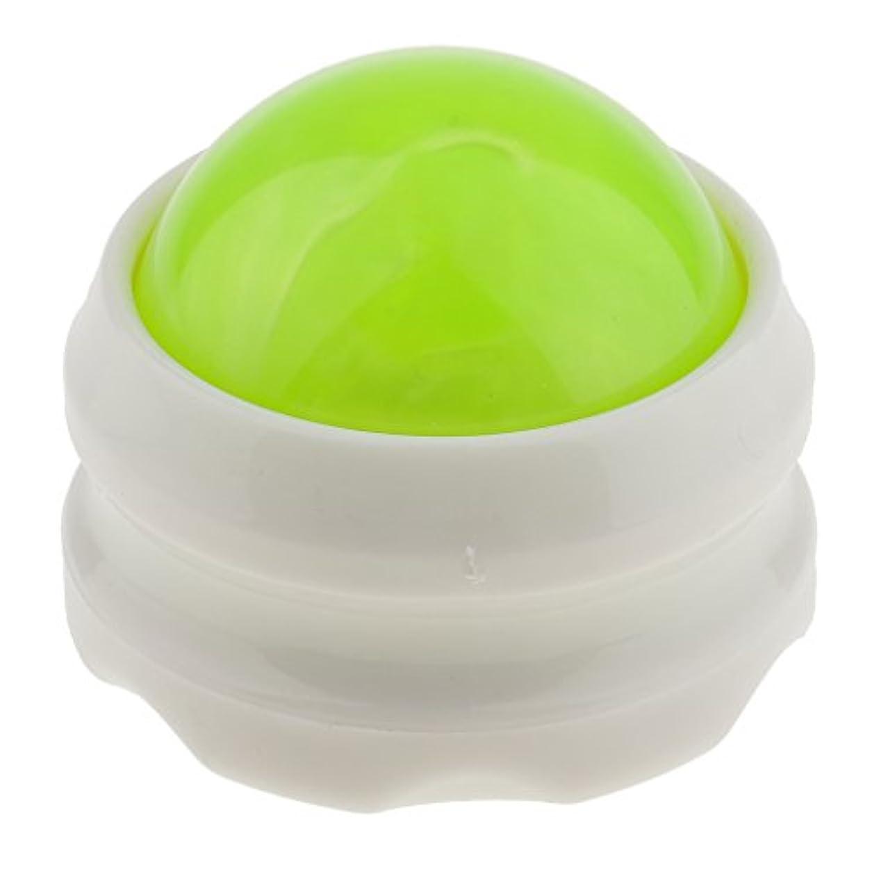 結晶眠り実現可能マッサージ ローラー ボディ ローラーボール 体 足 背中 首 ヒップ セルフマッサージ 全4色 - グリーンホワイト