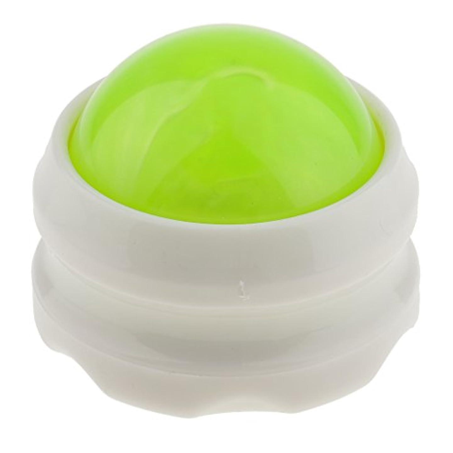 熟した染色であることマッサージ ローラーボール ボディ バック ネック フット セルフマッサージツール 全4色 - グリーンホワイト