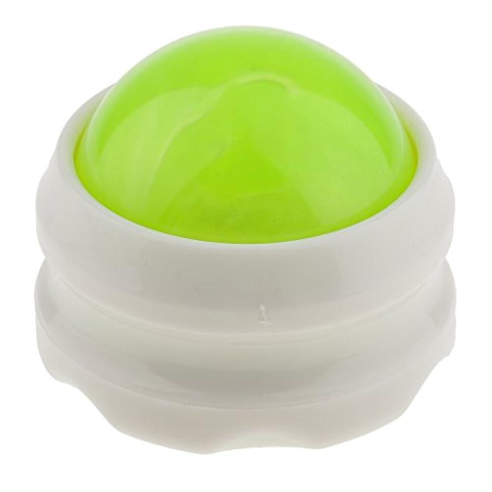 意外ガス裁量マッサージ ローラー ボディ ローラーボール 体 足 背中 首 ヒップ セルフマッサージ 全4色 - グリーンホワイト