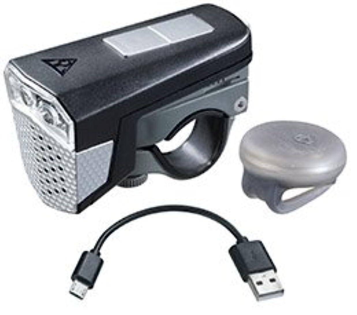 体現するカリキュラム輝くLPF14000 TOPEAK ヘッドライト サウンドライト USB (ワイヤレスサウンドコントローラー付) ブラック