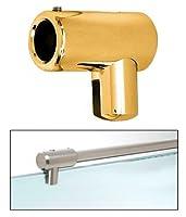 """真鍮U -ブラケットサポートバーfor 1/ 4」、5/ 16""""ガラス ゴールド S4GP"""