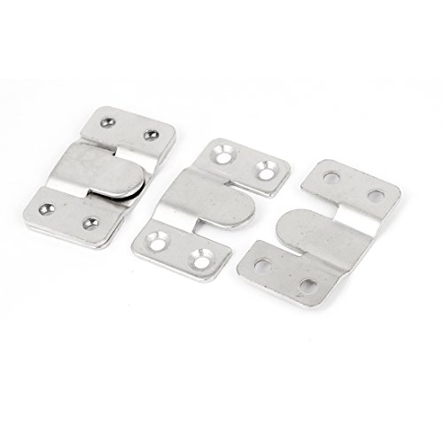 uxcell Wood Bed Rail Photo Frame Metal E-Type Hanger Hook Plates Buckle 5set