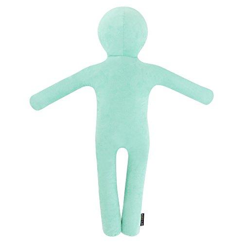 BIBILAB(ビビラボ) 人型 抱き枕 クッション わたびと [ Lサイズ みずいろ カバー取り外し 洗濯可 ] WB1-100