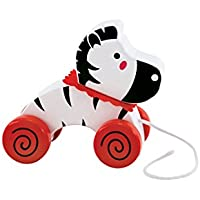 Rich Frog Wooden Pull Toy - Zebra by Rich Frog