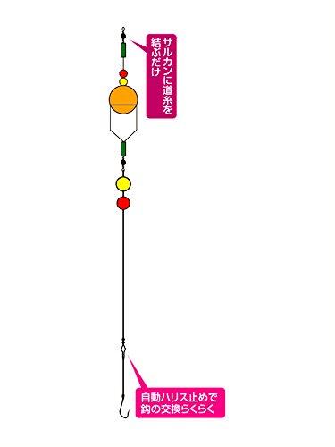 ハヤブサ(Hayabusa) サヨリ仕掛 カゴ付きスーパーボール(リール竿用) 4-1 HA136
