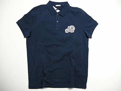 [モンクレール]MONCLER 半袖ポロシャツ 2連ロゴワッペン付き POLO メンズ ポロシャツ 091-8304200-84556 サイズS/M/L/XL/XXL 783 (ダークネイビー系) [並行輸入品]
