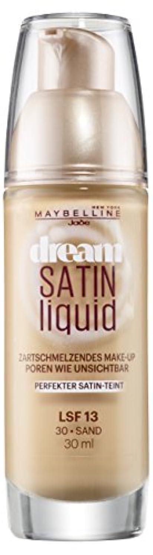幻想的かどうか潜むMaybelline Dream Satin Liquid Make-up Nr. 30 Sand, flüssiges Make-up, verschmilzt mit der Haut, für unsichtbare...