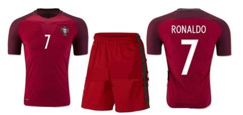 大人用 16-17 最新モデル サッカー ユニフォーム ポルトガル HOME  7番ロナウド