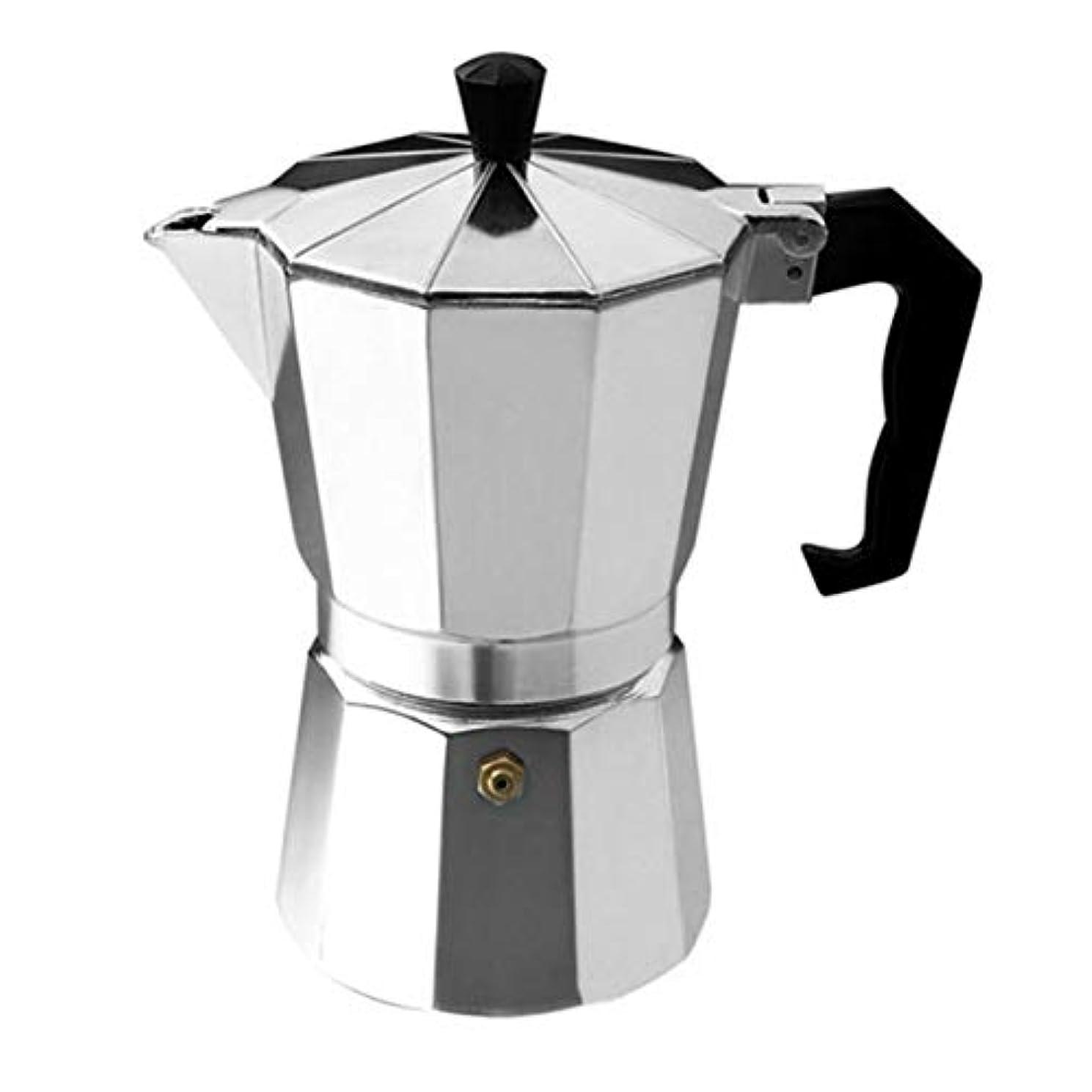 ウルルウルル補助金Saikogoods アルミ8アングル真岡ポットエスプレッソストーブトップのコーヒーメーカーモカエスプレッソカップコンチネンタル真岡パーコレーターポット3cup / 6cup 銀色の 6カップ