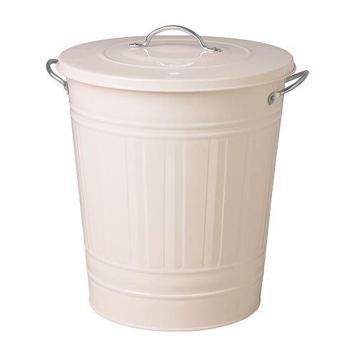 RoomClip商品情報 - レトロ ふた付きゴミ箱 収納 分別ゴミ箱 資源ごみ ブリキ風 バケツ型ペール ホワイト 白 40L
