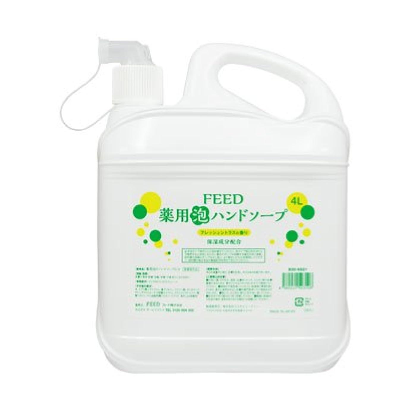 損なう調整降雨【業務用】 FEED(フィード) 薬用泡ハンドソープ フレッシュシトラスの香り/4L ハンドソープ(泡タイプ) 入数 1本