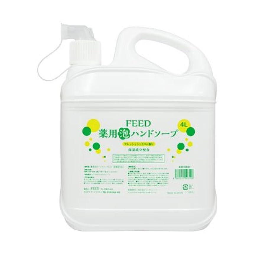 予言する曲補償【業務用】 FEED(フィード) 薬用泡ハンドソープ フレッシュシトラスの香り/4L ハンドソープ(泡タイプ) 入数 1本