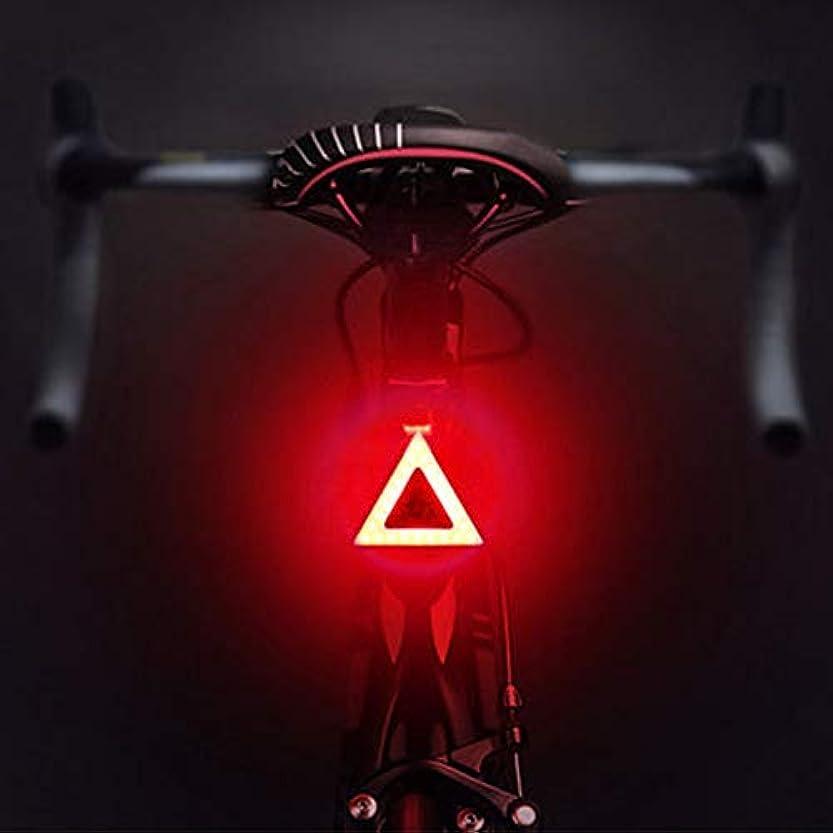 環境に優しい義務傾斜充電式自転車ライト 自転車用リアライト、5つのライトモード自転車用テールライト、USB充電式自転車用ライトフック&ループストラップ付き防水自転車用ライトあらゆるバイク/ヘルメット、レッド&ブルーライトにフィット (Color : Pattern-04)