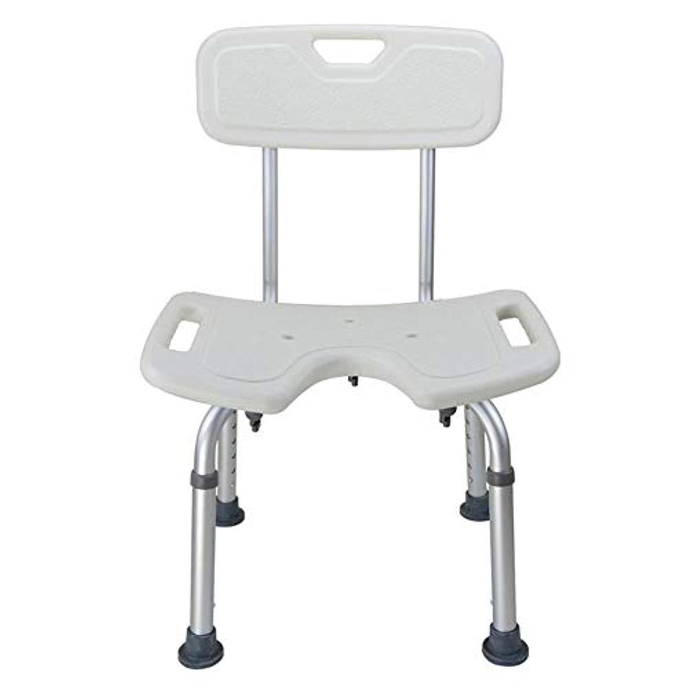 並外れて直感便利背部と調節可能な折るシャワーチェアの高さ