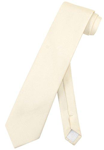 VesuvioナポリネクタイソリッドExtra Longクリームオフホワイト色メンズXL Neck Tie