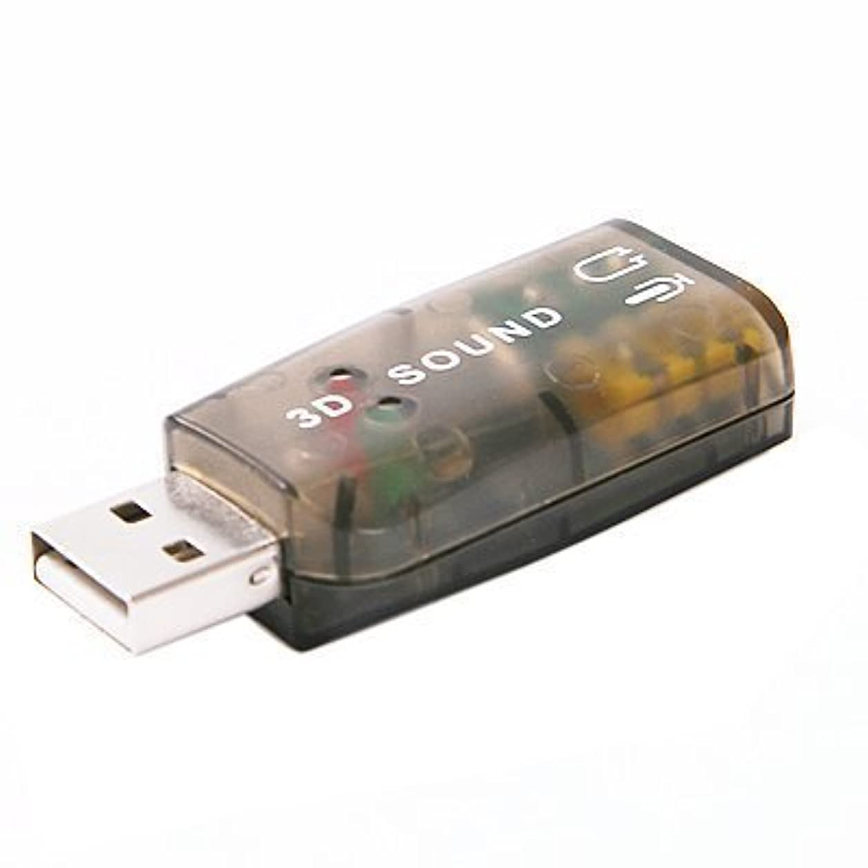 ラボおじさん司令官External 5.1 USB 3D Audio Sound Card Adapter for PC Desktop Notebook Laptop [並行輸入品]