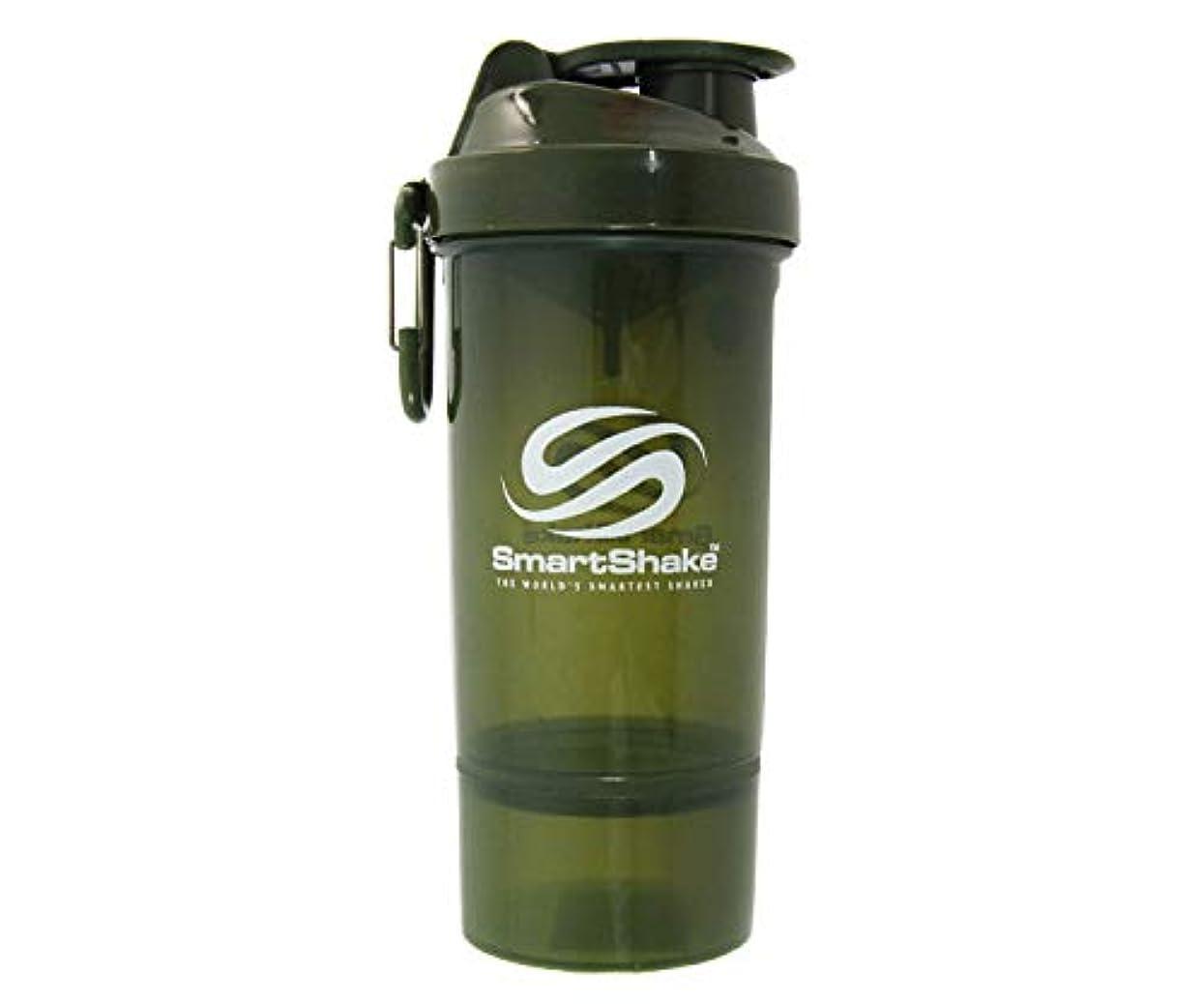 写真を描くアイロニートリッキーSmartShake(スマートシェイク) SmartShake ORIGINAL2GO ONE 800ml Army Green 多機能プロテインシェイカー アーミーグリーン 800ml大容量 コンテナ1段タイプ