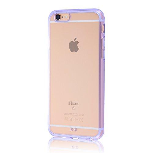 レイ・アウト iPhone6/6s ケース ハイブリッド(TPU+ポリカーボネイト)ケース クリアバイオレット RT-P9CC2/TV