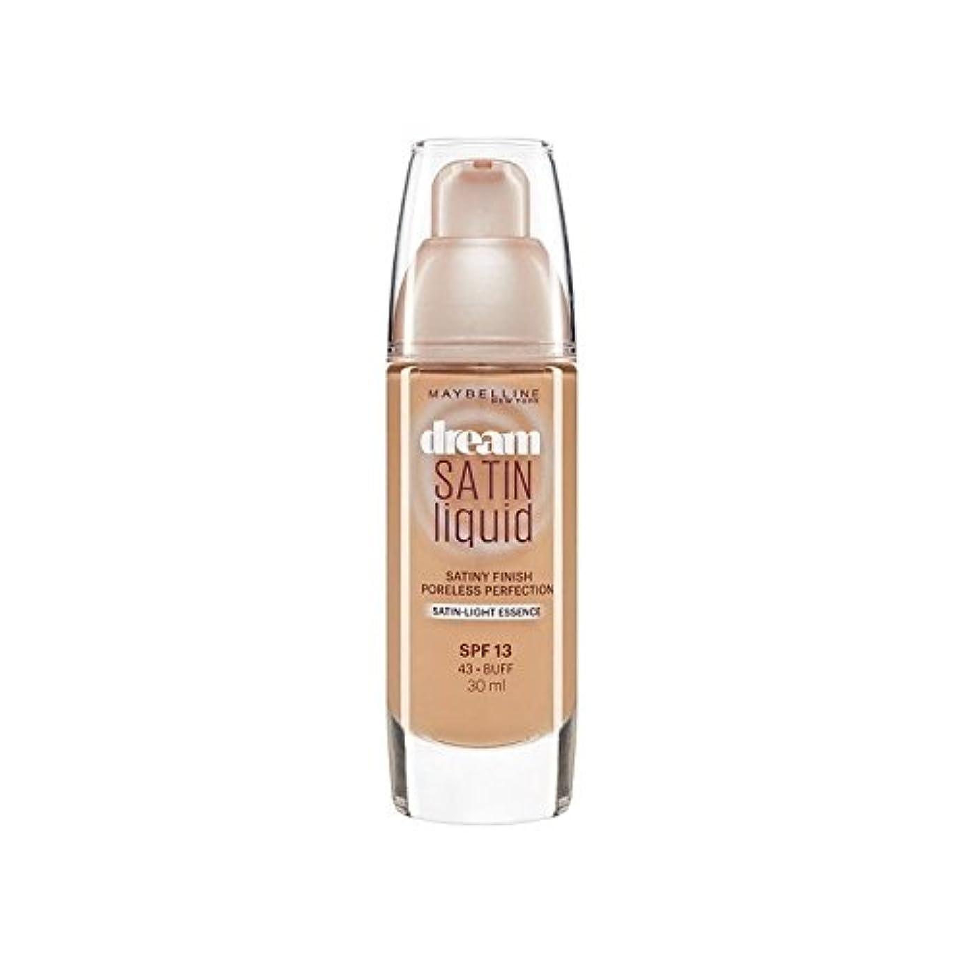 選出する震える正規化Maybelline Dream Satin Liquid Foundation 43 Buff 30ml (Pack of 6) - メイベリン夢サテンリキッドファンデーション43バフ30ミリリットル x6 [並行輸入品]