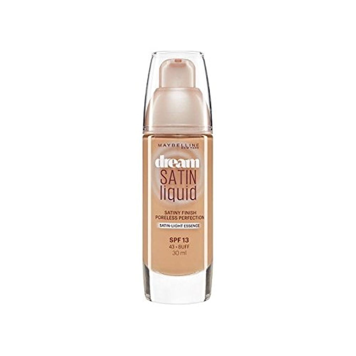 望みアレンジメディックMaybelline Dream Satin Liquid Foundation 43 Buff 30ml - メイベリン夢サテンリキッドファンデーション43バフ30ミリリットル [並行輸入品]