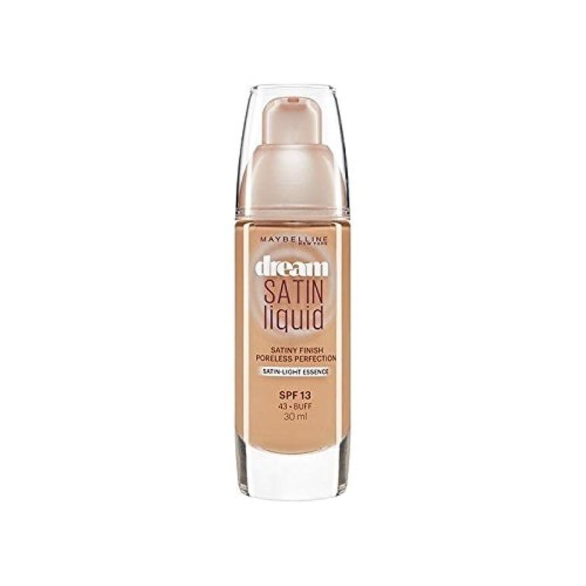 パステルスロベニア苦行Maybelline Dream Satin Liquid Foundation 43 Buff 30ml (Pack of 6) - メイベリン夢サテンリキッドファンデーション43バフ30ミリリットル x6 [並行輸入品]
