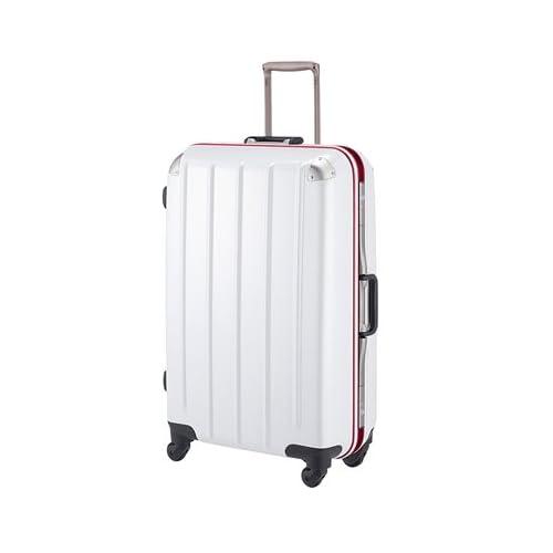 プラスワン|スーツケース|Advance swift フレームキャリー 【71cm】5510-71ホワイトカーボン(レッドフレーム)