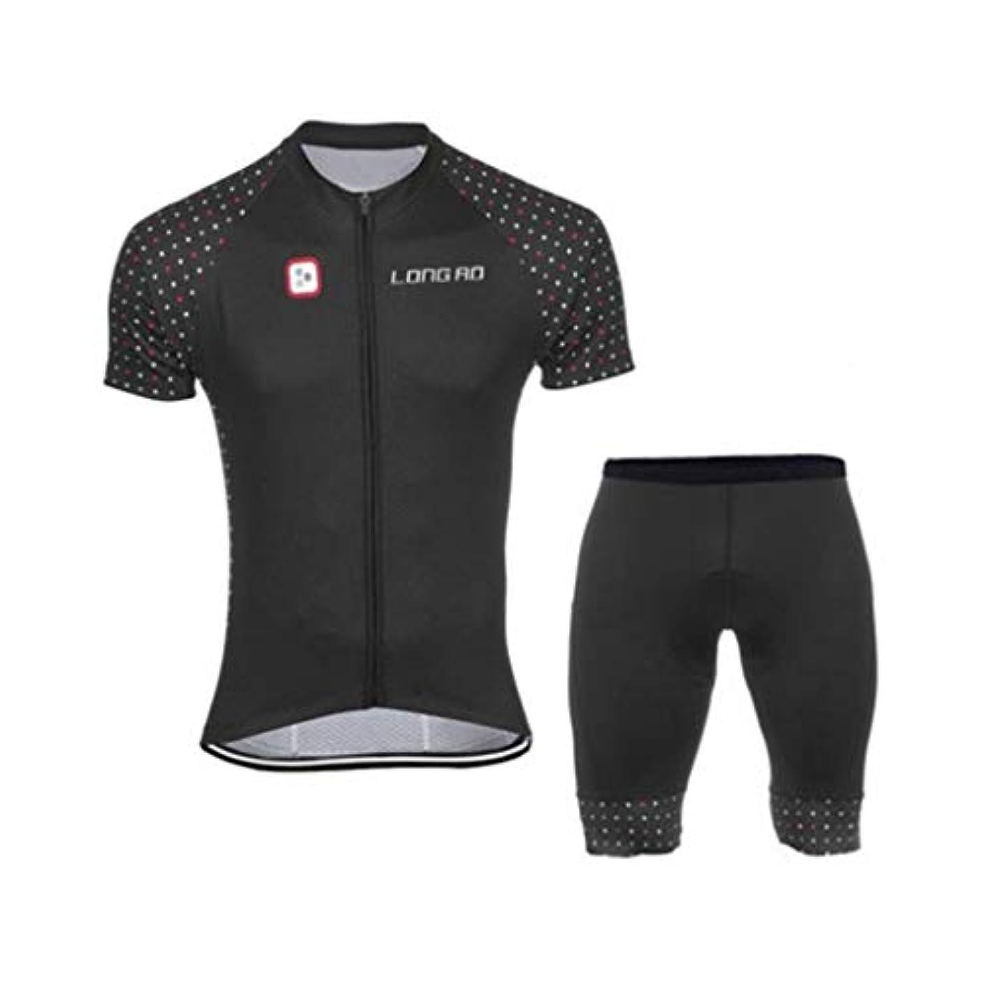 消費する落ち着いてファシズムサイクリンググローブジャージー+ビブショーツジャージー通気性?速乾性アウトドアスポーツ用ライディンググローブ(2セット+ライディンググローブ) (Color : Style 3+gloves, Size : XS)