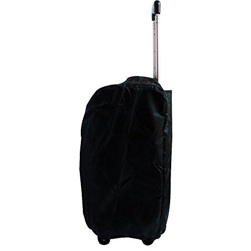 Smiley Smile(スマイリースマイル)改良版 ナイロン製スーツケース防水カバー 収納袋一体型 (M/ブラック)
