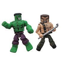 Marvel Vs Capcom 3 Minimates Series 1 Exclusive Mini Figure 2Pack Hulk Vs. Mike Haggar