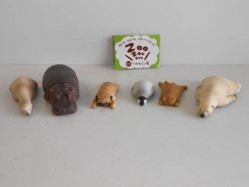 RoomClip商品情報 - ねてもさめても かわいいやつら ZOO 第2弾 つかれた寝 全6種 全6種 1 アルパカ 2 カバ 3 イヌ 4 ペンギン 5