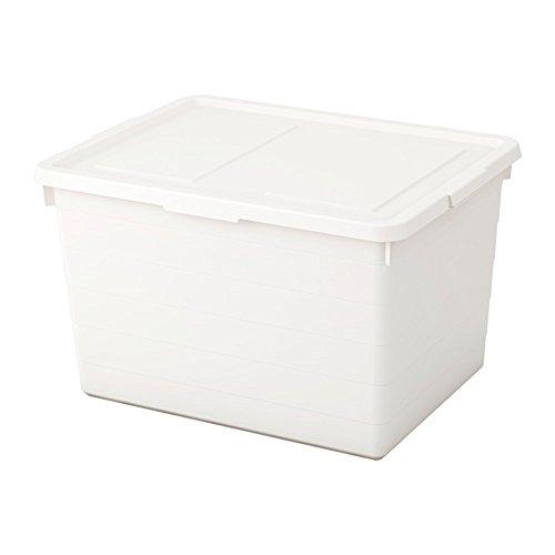 SOCKERBIT ふた付きボックス, ホワイト, 38x51x30 cm