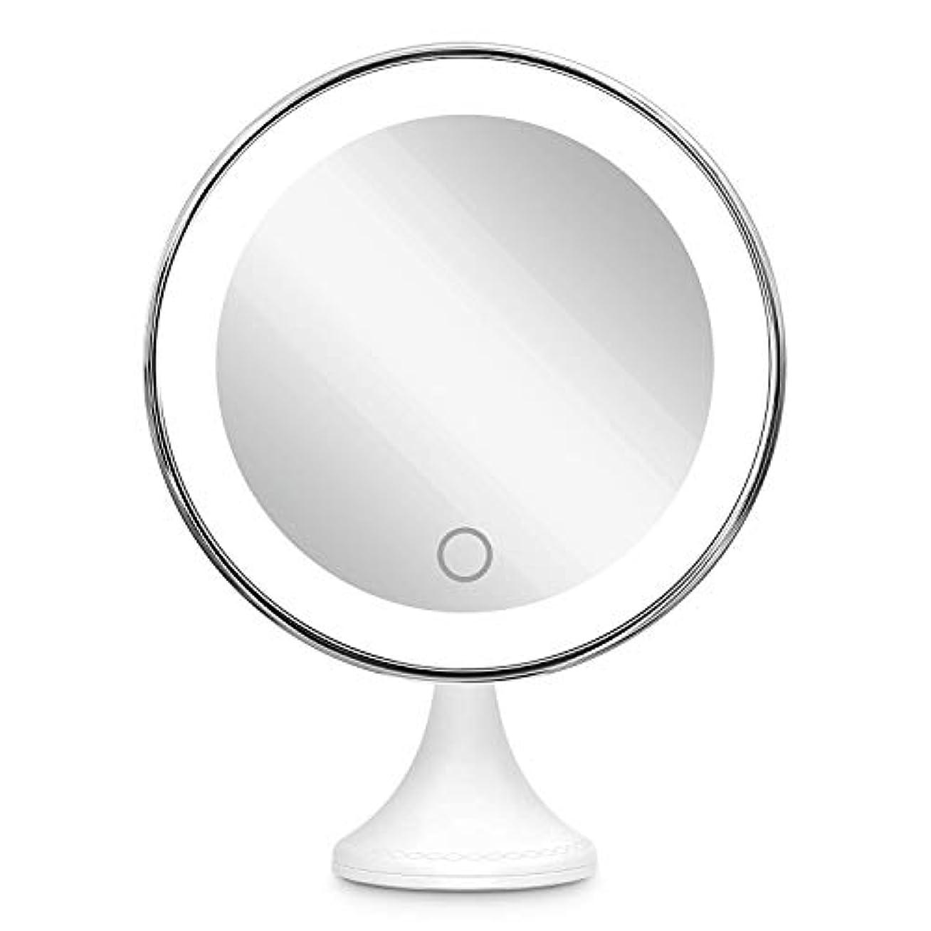 慢性的落胆させるコミット10倍拡大鏡 BEQOOL LED化粧鏡 化粧 拡大鏡 浴室鏡 女優ミラー 卓上鏡 壁掛けメイクミラー 吸着力が強いシリカゲル台座付き LEDの明るさと色調節でき 360度回転 単四電池&USB給電対応 ホワイト