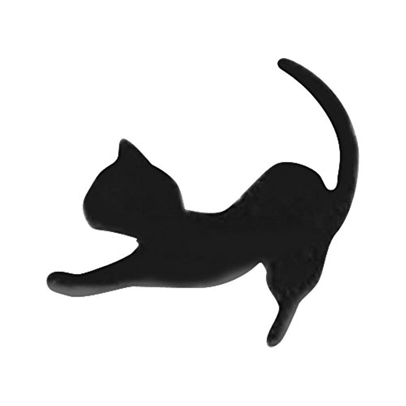 乳製品鋼ペルメルリトルプリティー ネイルアートパーツ 猫2 ブラック 10個