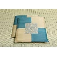 純国産/日本製 捺染返し い草座布団 『草美(くさび) 2枚組』 ブルー 約55×55cm×2P