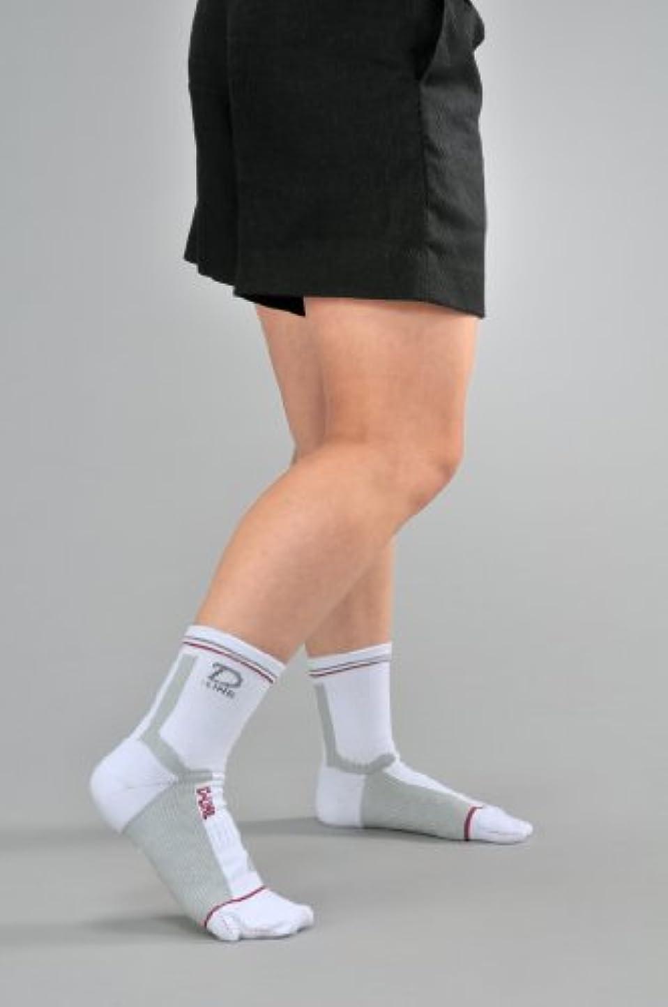 ゴルフ専用ソックス D-LINEサポートソックスショート ホワイトL