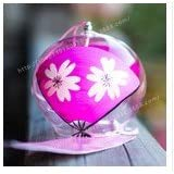 日本風 かわいい ガラス 風鈴 ベル インテリア 飾り物 ファンの桜のパターン