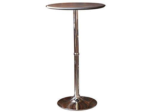 ラウンドバーテーブル レザー ダークブラウン ハイテーブル 高さ110cm WCHL-60-DBR