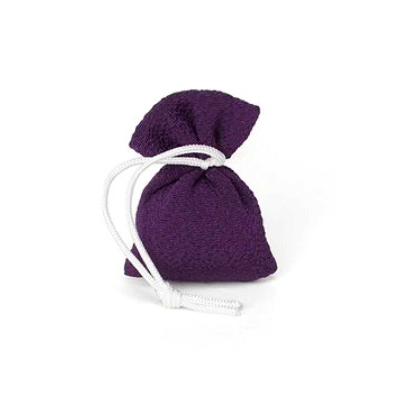 予感寄付コンソール松栄堂 匂い袋 誰が袖 携帯用 1個入 ケースなし (色をお選びください) (古代紫)
