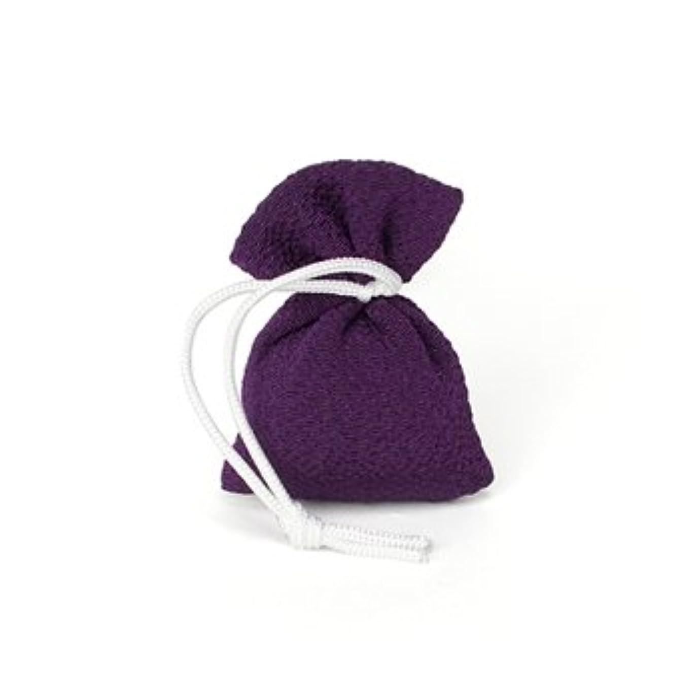 ラグモート道松栄堂 匂い袋 誰が袖 携帯用 1個入 ケースなし (色をお選びください) (古代紫)