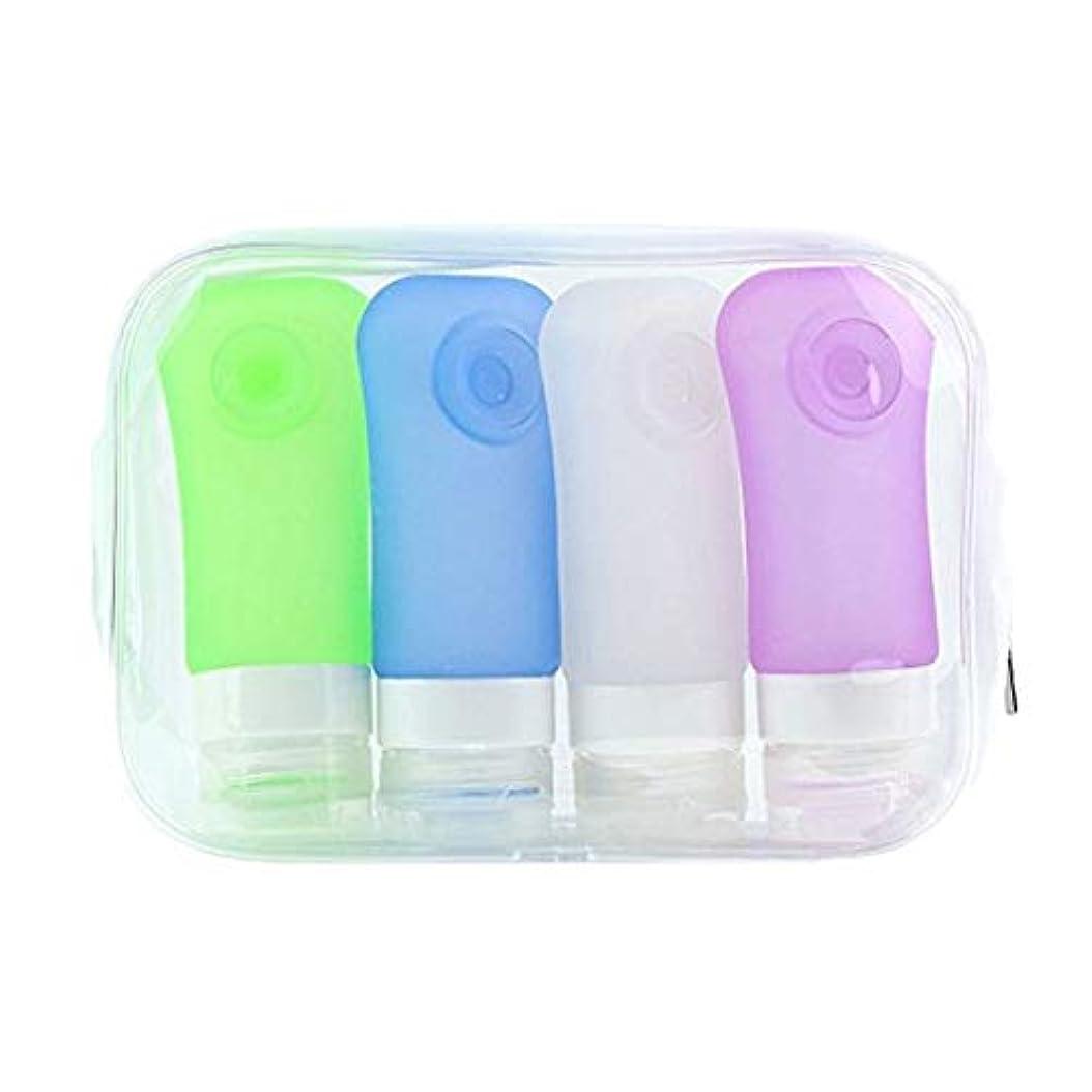 病弱クランシー学習トラベルボトル漏れ防止シリコンスクイーズトラベルチューブセット化粧品シャンプーコンテナ(2セット) (色 : 2 pack random color)