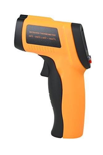 赤外線放射温度計 COZYSWAN 温度測定器 非接触温度計 (オレンジ, -50~ +550℃)