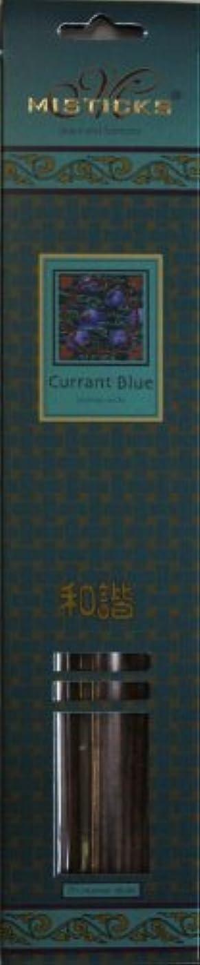浸した中傷ビンMisticks ミスティックス Currant Blue カラントブルー お香 20本入