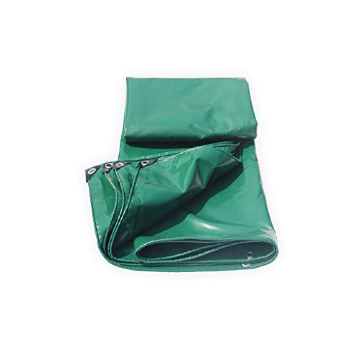 鳩端改修するTarpaulin 屋外ホームピクニック車のキャンプ、オプションの3色のための防水ポンチョ厚い編み上げターポリン Garden tent (Color : Green, Size : 1.5*2m)