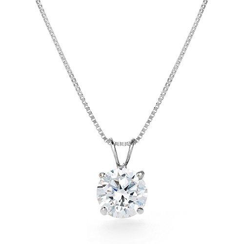 [Gift from New York] 一粒 1.25ct 14K ホワイトゴールド ネックレス NY限定 デザイナーズ ネックレス