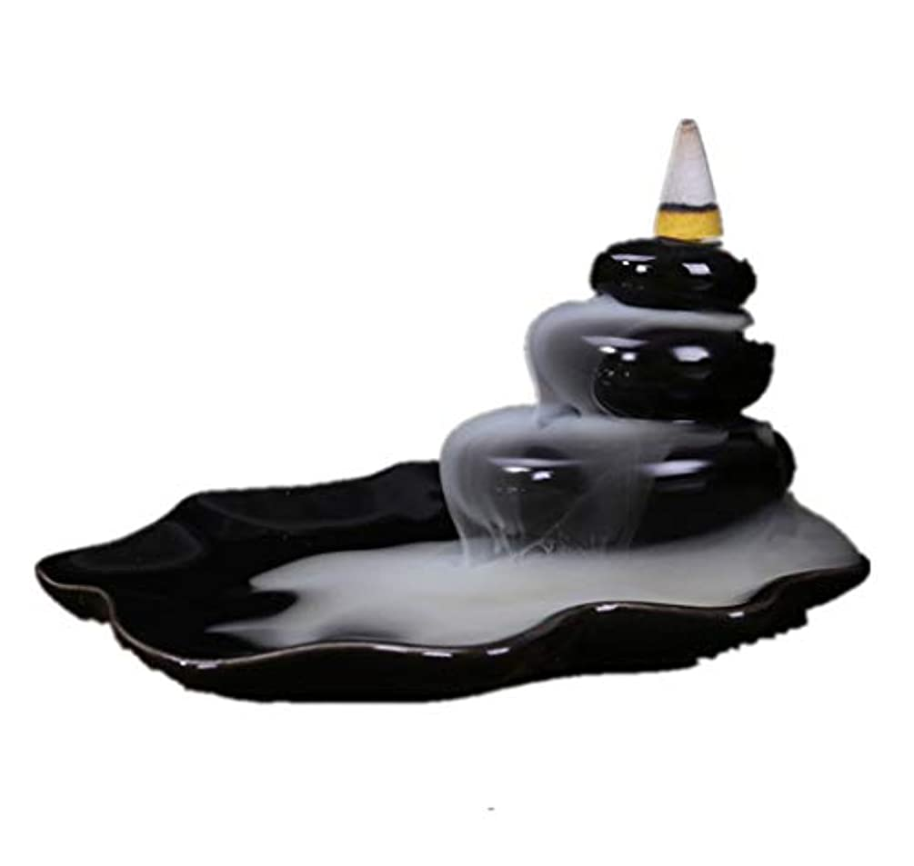 天気びっくり実験的XPPXPP Backflow Incense Burner, Household Ceramic Returning Cone-shaped Candlestick Burner