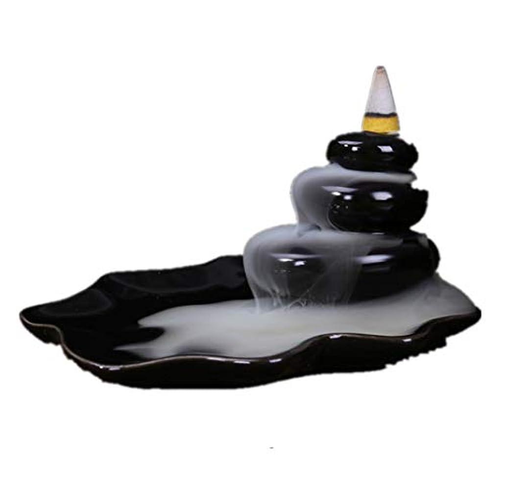 完了ジョグ後継XPPXPP Backflow Incense Burner, Household Ceramic Returning Cone-shaped Candlestick Burner