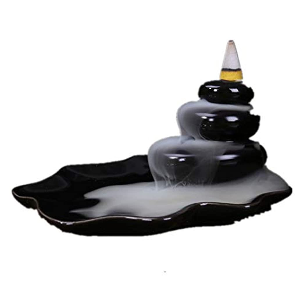 XPPXPP Backflow Incense Burner, Household Ceramic Returning Cone-shaped Candlestick Burner